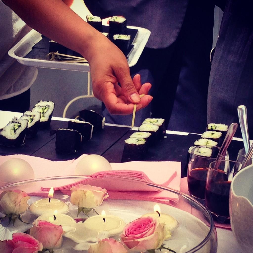 Sushi in rosa per noi!