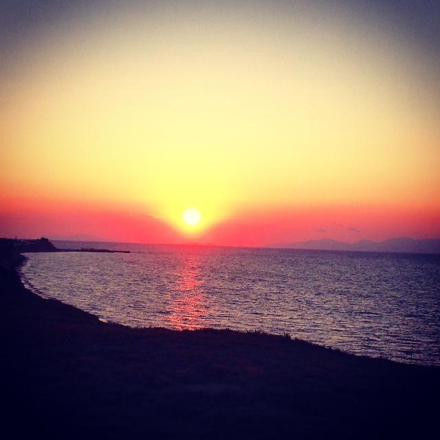 Sunset in Santorini!